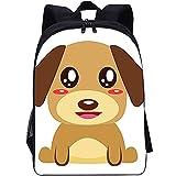 RomantiassLu mochilas para niños Mochila escolar impresa en 3D dog print backpack Mochila de viaje para adolescentes niño niña camping y senderismo mochilas 16inch Mochila animal lindo