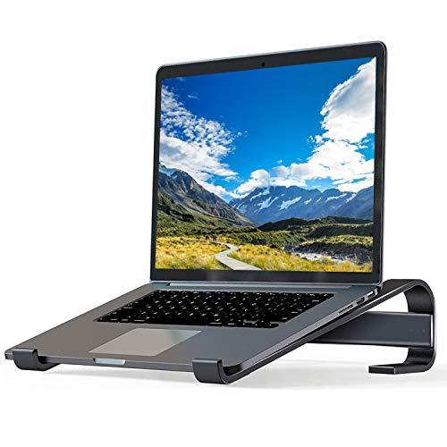 VIEVAN Supporto PC Portatile Porta PC Supporto Ergonomico Alluminio Leggero Ventilato Compatibile con MacBook Air PRO, PC, iPad, Notebook, Tablet, dell, XPS, HP, Lenovo 10-17 Pollici (Nero)