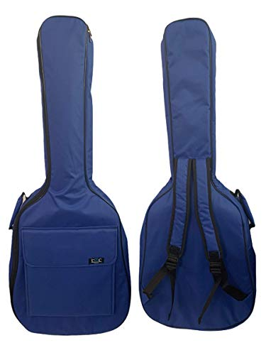 Gitarrentasche Konzertgitarre Gig Bag Rucksack Tasche gepolstert 4/4-3/4-1/2 - (1/2-87 cm, Blau)