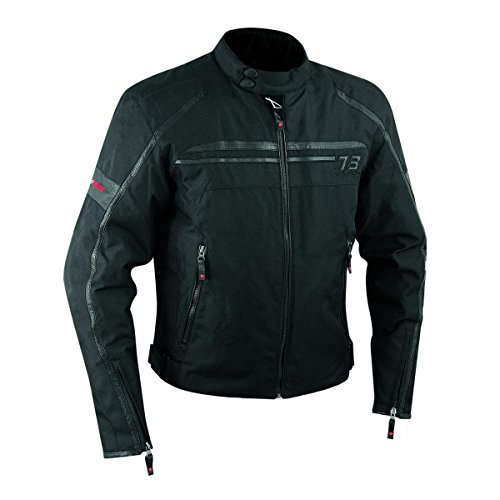 Giacca Moto Sport Custom Impermeabile Sfoderabile Tessuto Cordura Nero L