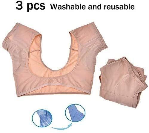 Oksel zweet pad Deodorant kan worden hergebruikt en wasbaar Geschikt for vrouwen, onzichtbare 3pcs (Size : Large)