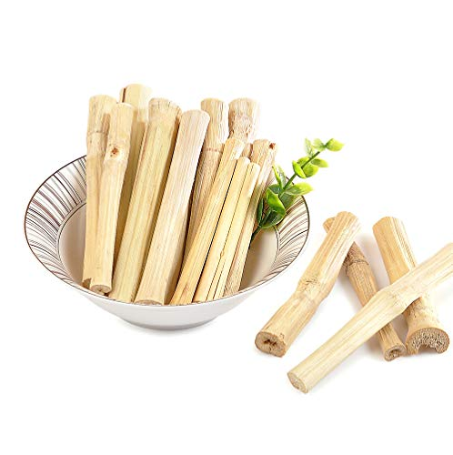 Niteangel Natural Bamboo Chew Toys for Rabbits, Chinchilla, Guinea Pigs and Other Small Animals (20 pcs)