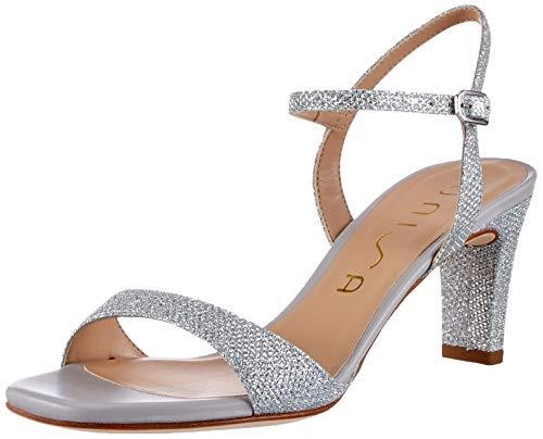 Unisa Mechi_ev_na Peeptoe sandały damskie, srebrny - Silber Silver Silver - 36 EU