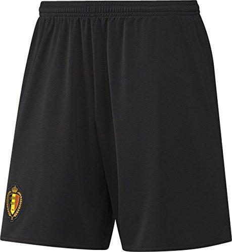 adidas Herren Trikot RBFA Away Auswärtsshorts Belgien Shorts, Weiß/Schwarz/Gelb/Rot, M