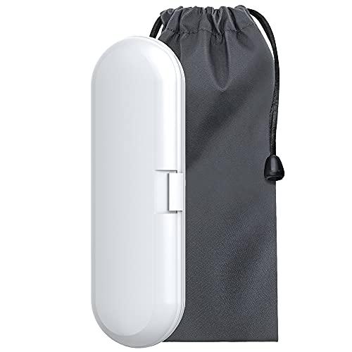 Elektrische Zahnbürste Reiseetui Kompatibel mit Zahnbürsten Philips Sonicare, Reise Etui Hülle Box mit Weiche Samtbeutel für Zahnbürsten Philips Sonicare Premium (Weiß)