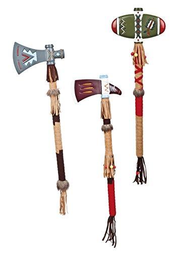 erdbeerclown - Fasching Indianer Axt mit Fransen , Mehrfarbig