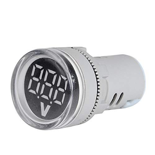 JJBHD Electronic Accessoires & Supplies 10pcs Weiß ST16VD 22mm Lochgröße 6-100 VDC Digital Voltmeter Rundspannungsprüfer Tester Mini-LED-Spannungsanzeige-Signal-Licht-Monitor Um Ihnen die Qualität der