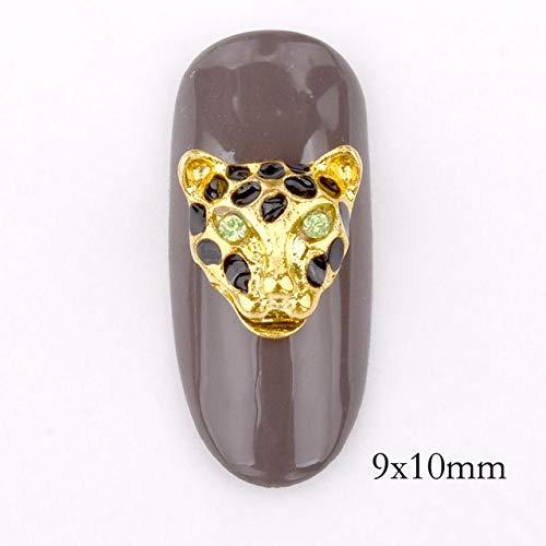GUANGUA 10 pièces de Bijoux en ongle 3D Pendentif Design Effet Goutte d'eau, Accessoires pour Ongles DIY Or