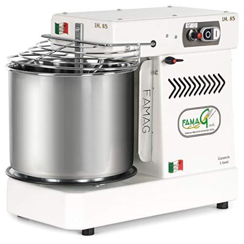 Famag IM-8S Spiral Dough Mixer, Variable Speed, 11.5 quart (Arctic White)