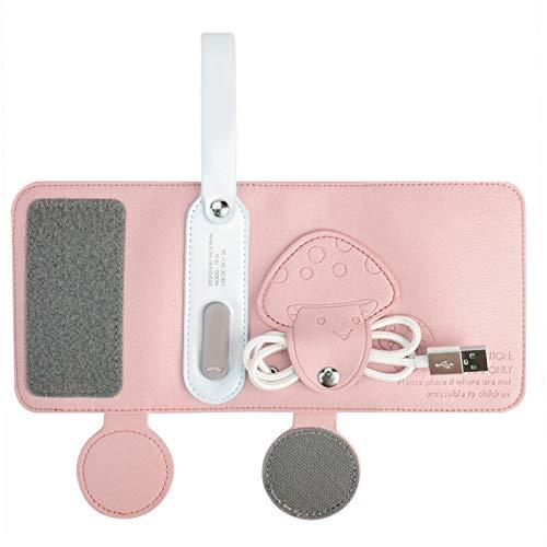 Mikrofaser-PU-Material, USB-Babyflaschenwärmer, Babynahrungsheizung für eine Vielzahl von Materialien,(Pink)