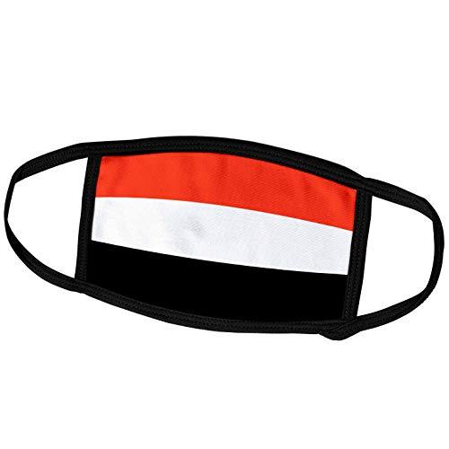 3dRose fm_31610_2 Face Mask Medium Gesichtsmaske, Polyester, Jemen-Flagge