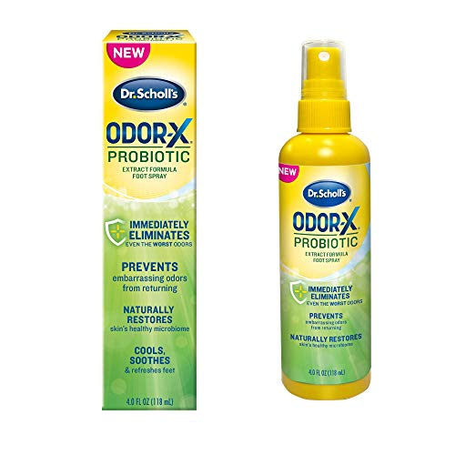 Dr. Scholl s Probiotic Foot Spray 4oz Immediately Eliminates and Prevents Odors from Returning Shoe Deoderizer  4 Ounce