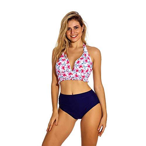 Nuevo Traje de baño Bikini Bikini Mujer Estampado Dividido Cintura Alta Bikini