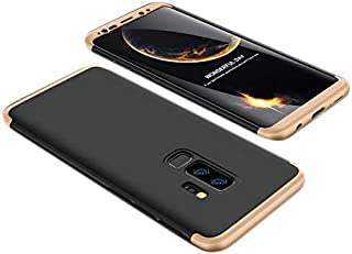 Samsung Galaxy S9+ Case, ultra Slim Gkk 360 Protection Cover Case - Black & Gold