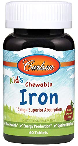 Carlson - Kid's Chewable Iron, 15 mg, Superior Absorption,...