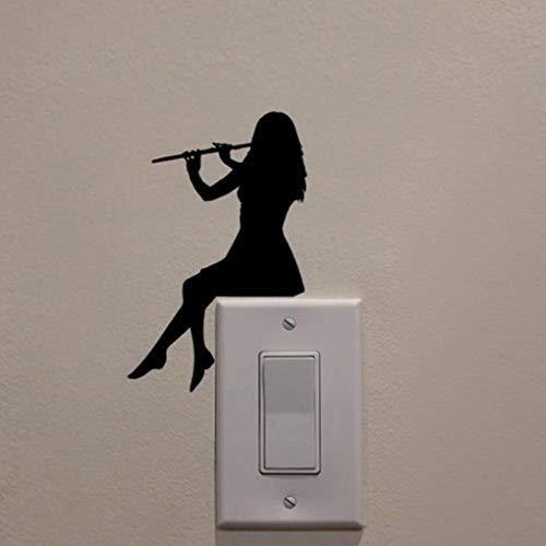 Junecat Chica Play Room Silueta de Dibujos Animados Etiquetas del ...