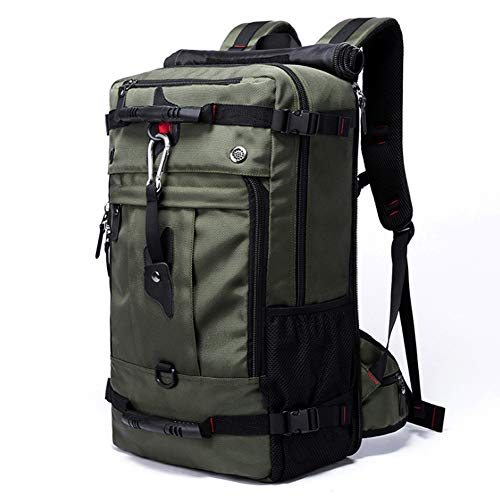 GAOHONGMEI 40L Travel Backpack, Knapsack Outdoor Mountaineering Traveling Casual High-capacity Bag Laptop Backpack for Outdoor Camping Trekking Tourist-green