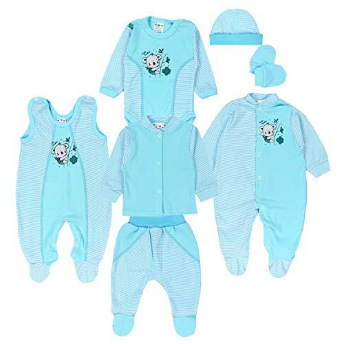 TupTam Conjunto de Ropa Bebé Recien Nacido, 7 Piezas, Turquesa/Koala a Rayas, 62