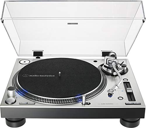 Audio-Technica AT-LP140XP-SV Direct-Drive Professional Fully Manual DJ Turntable (Silver)