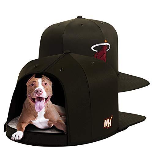 NAP CAP NBA Miami Heat Team Branded Indoor Pet Bed, Black (Small)