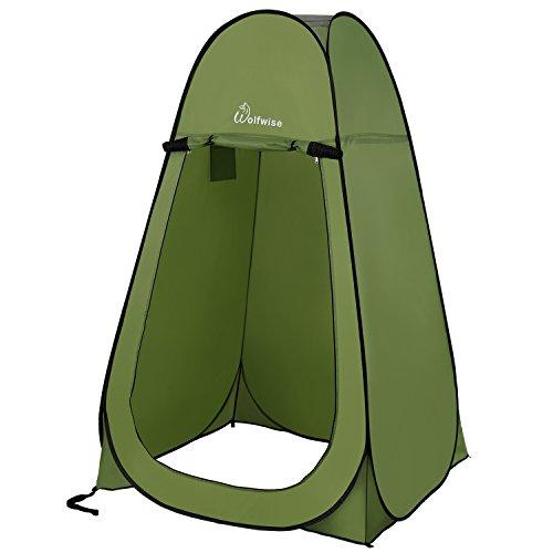WolfWise Tente de Douche Toilette Cabinet de Changement Camping Abri de Plein Air Vestiaire Amovible...