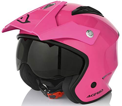 casco Jet aire Fucsia M