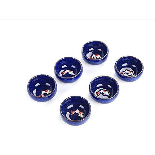QCCOKNN Vasos de té de cerámica con esmalte agrietado, taza de té de porcelana con juego de té de cerámica