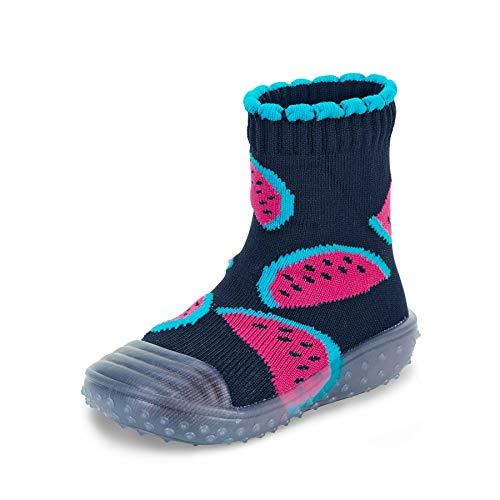 Sterntaler Baby - Mädchen Adventure-Socks, Socke mit Gummisohle, Wasserschuh, Größe: 21/22, Marine
