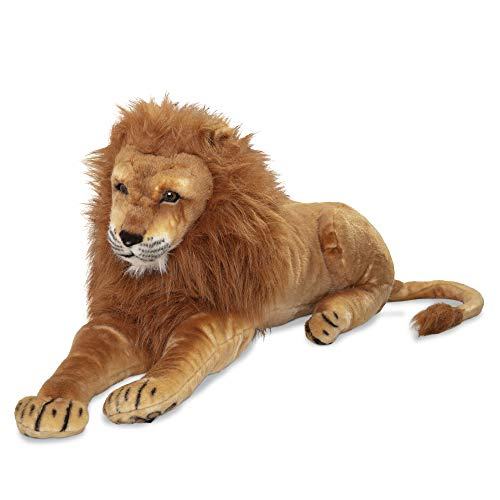 Melissa & Doug Giant Lion - Lifelike Stuffed Animal (over 6 feet long)