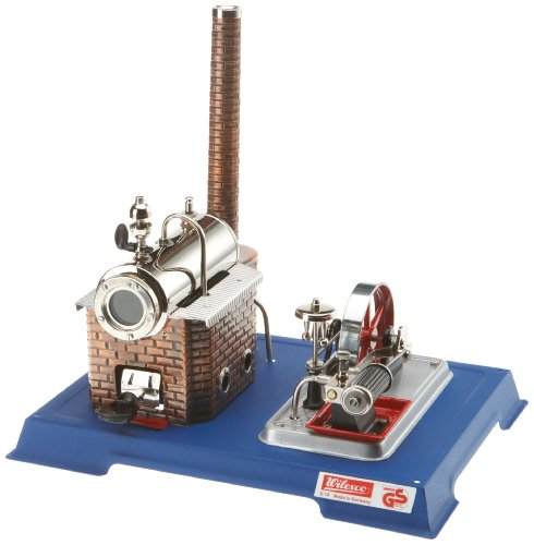 Wilesco 10 steam Engine D10, 155 ml Boiler Contents, Including Safety Valve and Whistle-Pipe