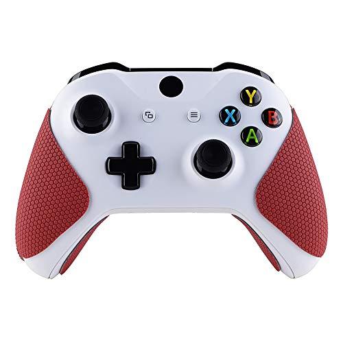 eXtremeRate Anti-Rutsche Grip Griffpolster Griffe Aufkleber Abziehblder Skin für Xbox One/Xbox One S/Xbox One X Controller(Rot)