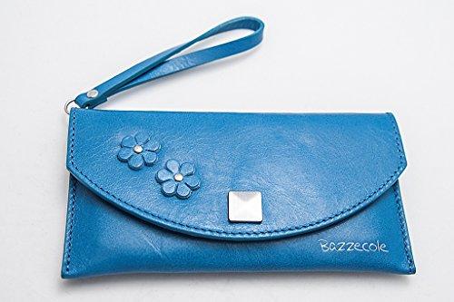 Funda de piel Hawaii - Azul para Apple iPhone 4, iPhone 5...