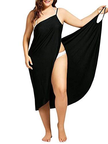 Frauen V-Ausschnitt langes Kleid Sommer Strand Wickelkleid Bademantel Handtuch Reise Spa Schwimmen große Größe S-6XL