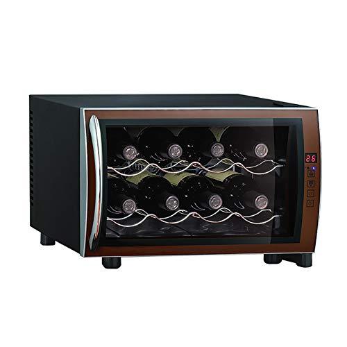 CLING Refrigerador de Vino pequeño Refrigerador de Vino Refrigerador de champán de 8 Botellas Encimera Bodegas de Vino Independientes Control Digital de Vidrio de Doble Capa para Bar en casa
