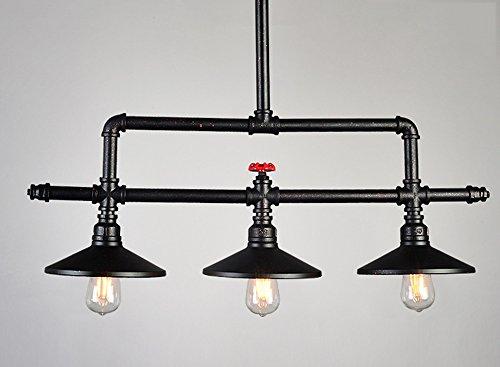 Stile industriale retrò creativo soppalco in ferro battuto bar caffetteria ristorante con lampadario nero