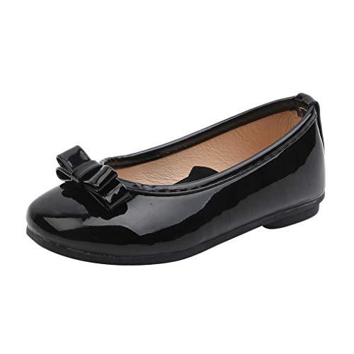 CixNy 1-12 Jahre Tanzschuhe Kleinkind Sommer Mädchen Kinderschuhe Schuhe Versteckter Schuhriemen Einfarbig Einzelne Schuhe Weich Unterseite Klettband Lederschuhe Mädchen Prinzessin Shoes Gr.21-36