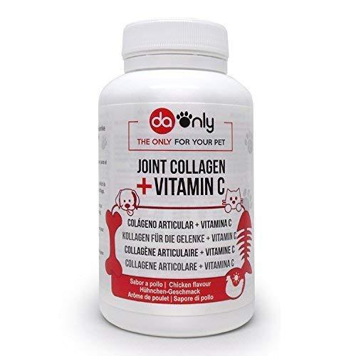 DAONLY Antinfiammatorio Naturale per Cani e Gatti, Collagene Idrolizzato + Magnesio + Calcio + Vitamina C e D, Integratore per articolazioni.