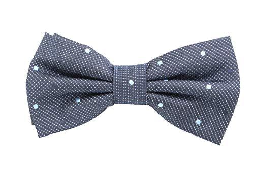 Fabio Farini - Elégant nœud papillon pour homme à pois pour toutes les occasions comme le mariage, la confirmation, le bal Bleu foncé (bleu clair noir