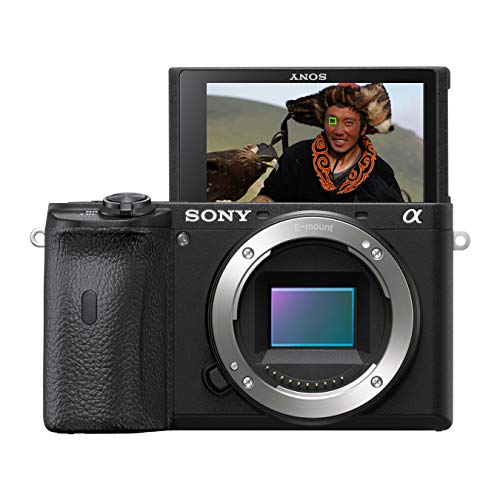 Sony Alpha 6600 E-Mount systeemcamera, 24 megapixels, 4K video, hogere accuprestaties, opt. beeldstabilisatie, 0,02 sec. Real-time autofocus met 425 AF-punten, XGA OLED-zoeker, alleen behuizing zwart