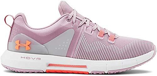 Under Armour Damen UA W HOVR Rise Hallenschuhe, Pink (Pink Fog/White/Peach Plasma (601) 601), 43 EU