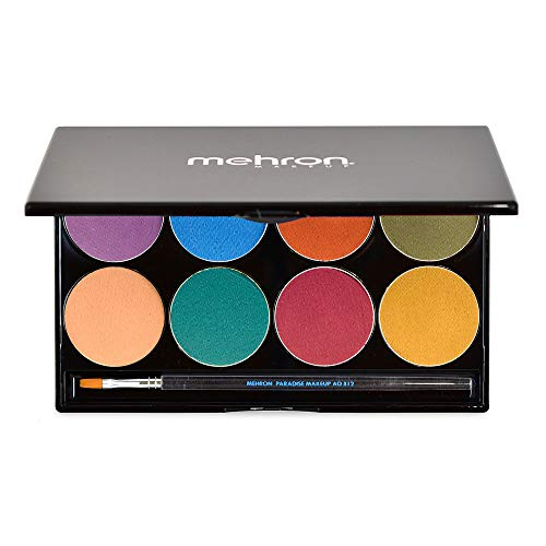 of mehron face paints Mehron Makeup Paradise AQ Face & Body Paint 8 Color Palette (Nuance) - Face, Body, SFX Makeup Palette, Special Effects, Face Painting Palette for Art, Theater, Halloween, Parties and Cosplay