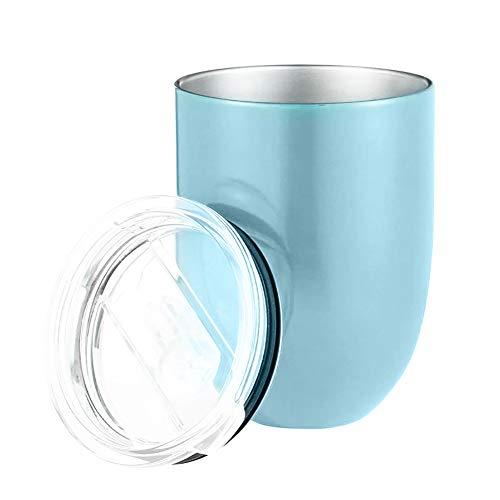 osyare Taza De Agua De 10 Oz, Copas De Vino Irrompibles Sin Tallo De Acero Inoxidable Para Picnic Al Aire Libre Que Acampan Azul