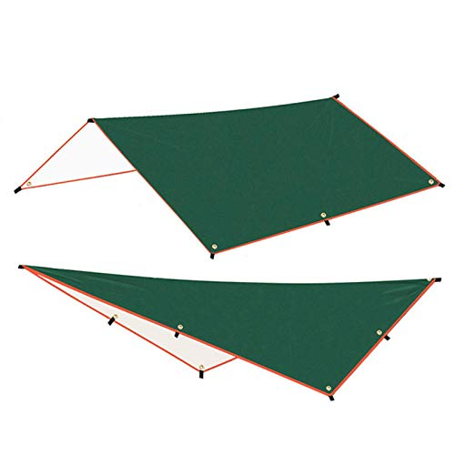3x3m Hammock Rain Fly Tent Tarp Hex Camping Tarp, Anti UV Sun Shelter Lightweight Waterproof Sunshade Beach Shelter Suitable for Camping Portable Windproof Snowproof for Camping Outdoor Travel mat
