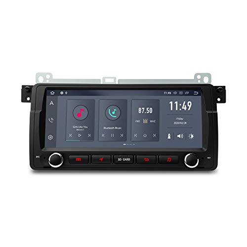 "XTRONS 8,8\"" 6 Core 4GB RAM 64GB ROM Android 10.0 Autoradio mit Touchscreen Hexa Core Auto Multimedia Player Qualcomm Bluetooth 5.0 HDMI Ausgang DAB OBD2 TPMS FÜR BMW E46"