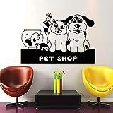 WERWN Salón de Belleza para Perros, Tienda de Mascotas, Pegatina de Vinilo para Pared, Pegatina artística, decoración Mural, Tienda de Mascotas