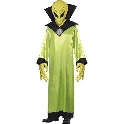 NET TOYS Alien Costume Jaune néon Taille M 48/50 - Costume d'alien - Extraterrestre - Aliens - Costume de Carnaval - Costume d'halloween - Monstre