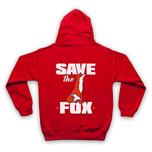 Save The Fox Protest Niños Sudadera con Capucha con Cremallera