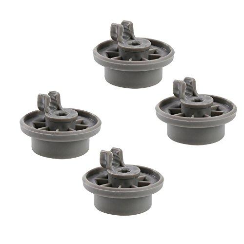 First4spares Premium wielclips voor de onderste mand vaatwasser, voor Bosch, Neff en Siemens – 4 stuks