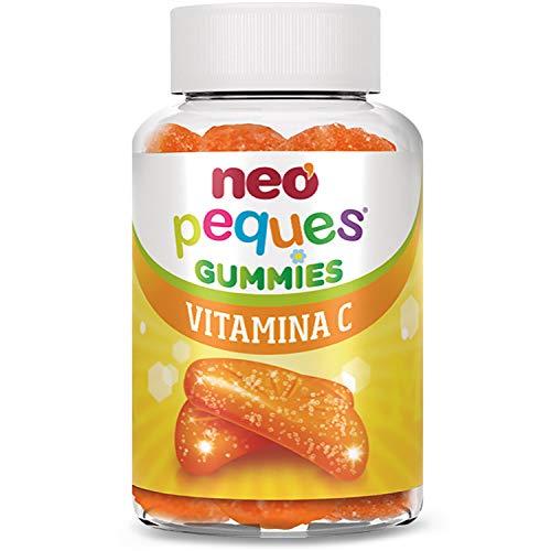 Neo Peques | Gummies Vitamina C 30 Unidades | Para Fortalecer el Sistema Inmunitario | Tomar 1 o 2 al día | Para Mayores de 3 años | Caramelo Masticable Infantil con Delicioso Sabor a Naranja
