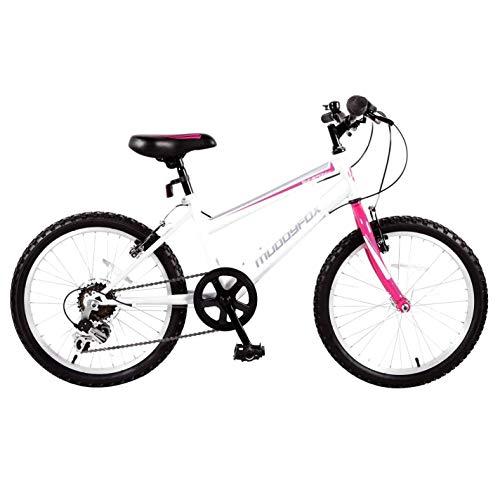 Muddyfox Kids Girls Synergy20 Mountain Bike White/Teal 20 Inch